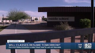 Why Scottsdale Unified closed 5 schools Monday. Will they reopen Tuesday?