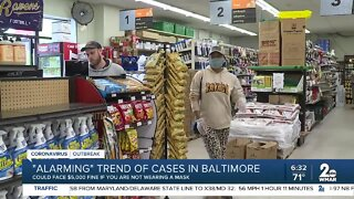 Baltimore City officials urge people to wear face mask as COVID-19 cases increase