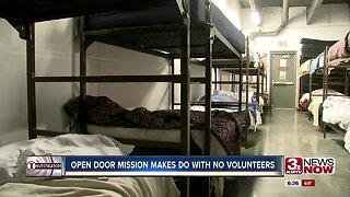 Open Door Mission makes do with no volunteers