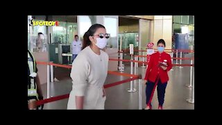 Parineeti Chopra spotted at the Airport before flying to Ambala for a commercial shoot | SpotboyE