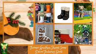 Farmer Jonathan Shares Some Décor Featuring Boots