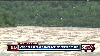Officials prepare Arkansas River for incoming storms