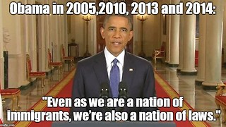 Barack Obama opposed illegal immigration and supported border security.