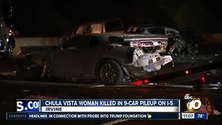 Chula Vista woman killed in I-5 pileup