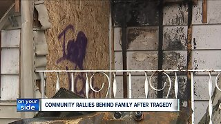 Akron supporting family after mother of 4 children dies in house fire