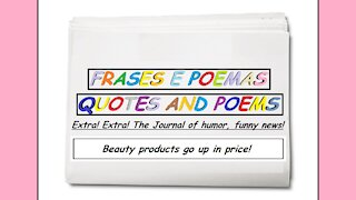 Funny news: Beauty products go up in price! [Quotes and Poems]