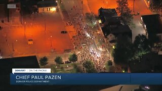 Denver police chief reacts to fourth night of protests