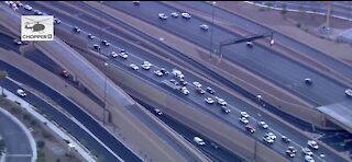 Crash and backup near I-15 and Charleston