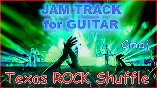449 TEXAS ROCK Shuffle Jam Track for GUITAR