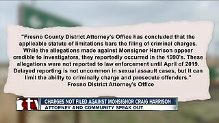 Charges not filed against monsignor Craig Harrison