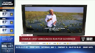 Congressman Charlie Crist announces run for governor of Florida