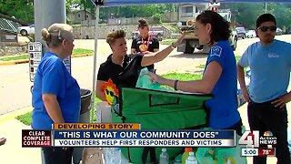KC companies volunteer to feed first responders, tornado victims