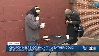 Historic Tulsa church helps homeless during below freezing temperatures