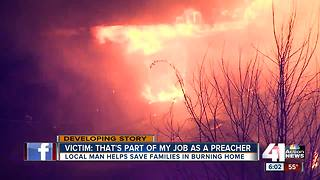 Local man helps save families in burning home