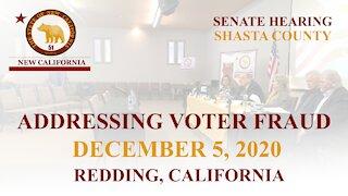 NEW CALIFORNIA STATE - SENATE HEARING ADDRESSING VOTER FRAUD - DECEMBER 5, 2020