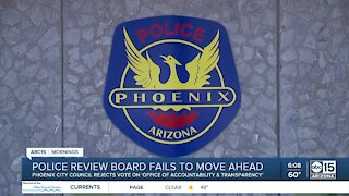 Police review board fails to move ahead