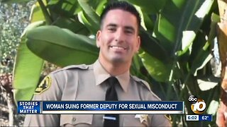 Woman suing former deputy for sexual misconduct