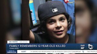 Chula Vista family remembers 12-year-old killed