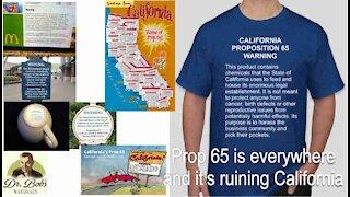 Dr. Bob Raising Awareness About California Proposition 65