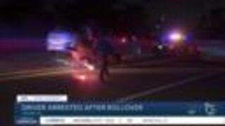 Driver arrested after rollover crash on SR-94 ramp
