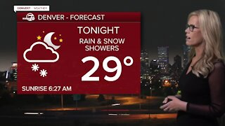 Rain and snow tonight, sunshine Friday