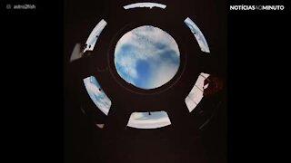 O planeta Terra visto da Estação Espacial Internacional