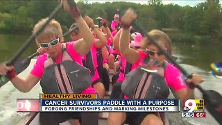 Breast cancer survivors paddle with a purpose