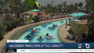 State theme parks ready to open at full capacity