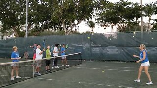 Love Serving Autism holds tennis clinic at the Delray Beach Open