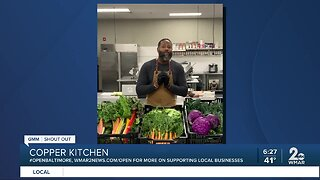 """Copper Kitchen says """"We're Open Baltimore!"""""""