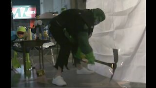 Trump's Hollywood Walk Of Fame Star Vandalized By Man Wearing Hulk Suit