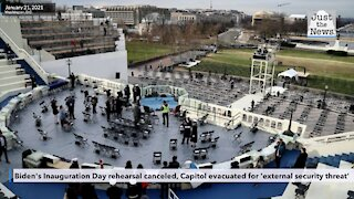 Biden's Inauguration Day rehearsal canceled, Capitol evacuated for 'external security threat'