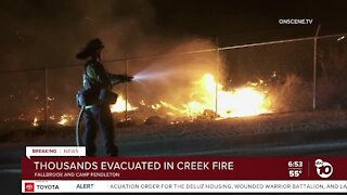 Creek Fire in North County prompts evacuations