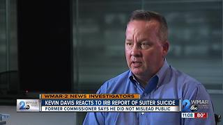 Commissioner Davis defends actions in first televised interview since IRB report released