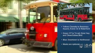 Downtown West Palm Beach trolley service resumes Thursday