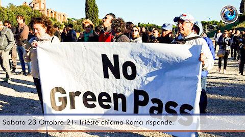 Sabato 23 ottobre 21: Trieste chiama Roma risponde