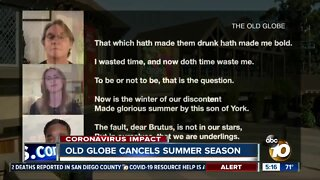 Old Globe cancels summer season