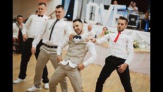 Groom Surprises Bride with Best Magic Mike Groomsmen Dance Ever