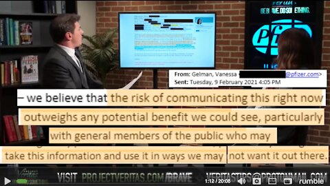 """Project Veritas EXPOSES COVID-19 Vaccines - We """"Avoid Having Info On Fetal Cells Out There"""""""