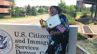 Denver7 Gives donates $555 to help woman replace citizenship certificate