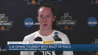 Leigha Brown leads Michigan over FGCU in NCAA Tournament