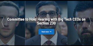 Senate Hearing with Big Tech CEOs 10/28/2020