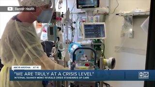 Internal memo reveals crisis standards of care