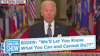 """BIDEN: """"We'll Let You Know What You Can and Cannot Do??"""""""