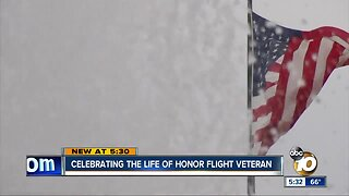 Honor Flight celebrates life of WWII veteran who passed away on trip