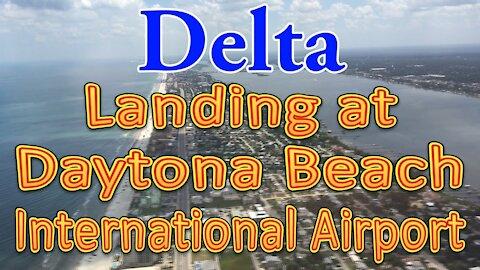 Delta flight landing at Daytona Beach International Airport (DAB)