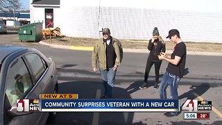 Community surprises veteran with a new car