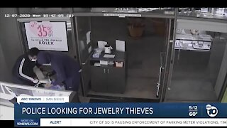 Police looking for jewelry thieves