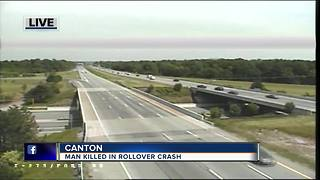 Driver dies after rollover crash, ejection on I-275 in Canton