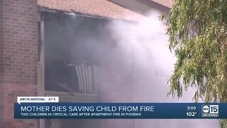 Mother dies saving child from apartment fire